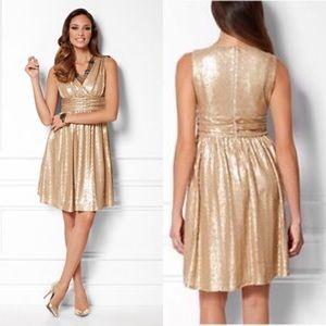 EUC Eva Mendes NY&Co good sequin Lisa dress XS